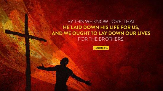 1 John 3. 16