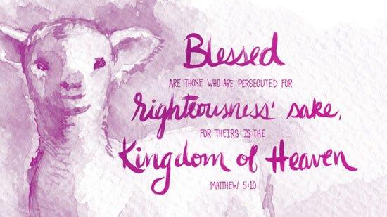 Matthew 5. 10