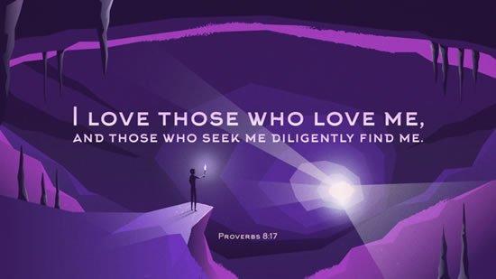 Proverbs 8. 17