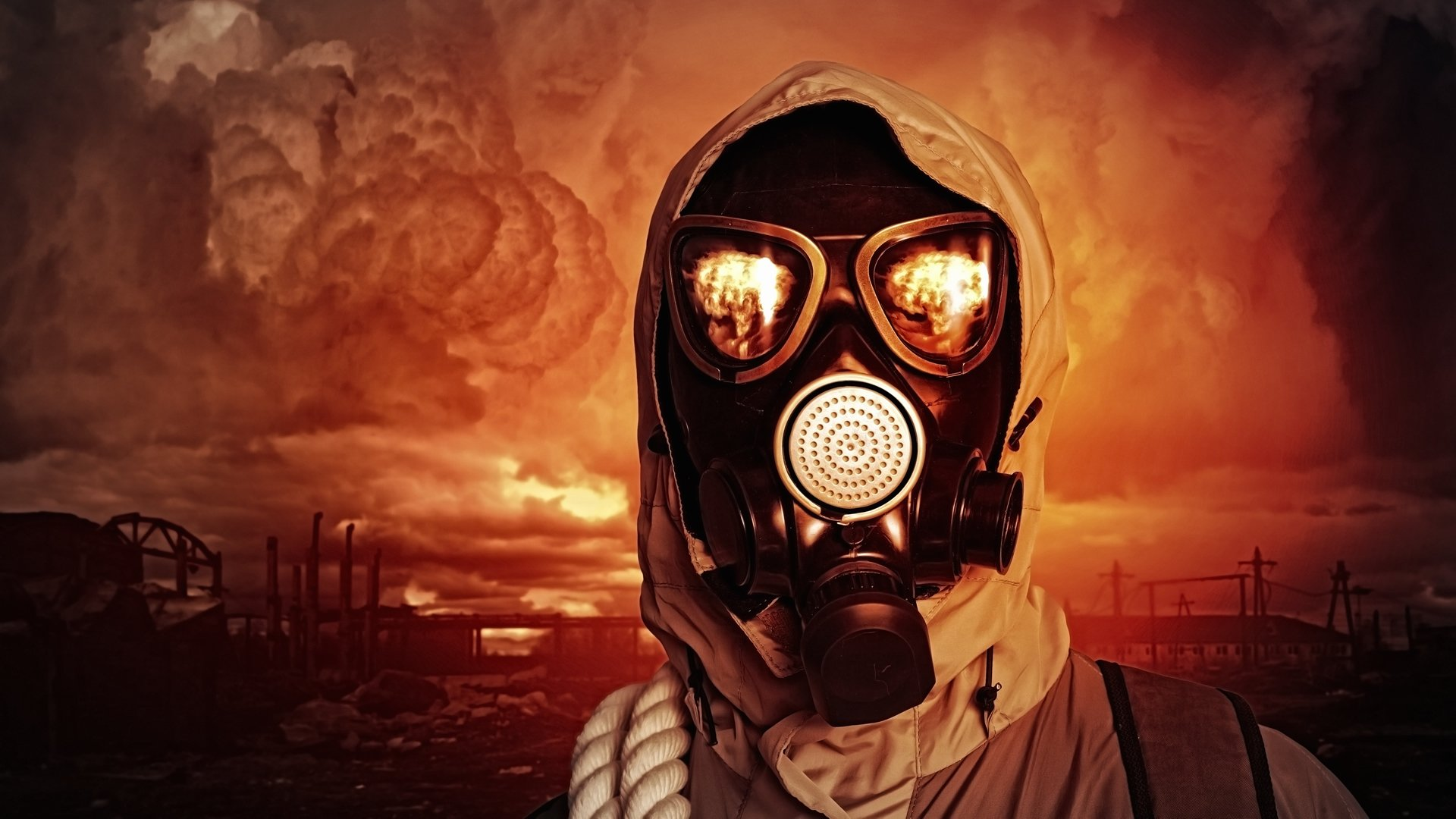 2-4-CH Man in gass mask world on fire   BrothersOfTheBook com